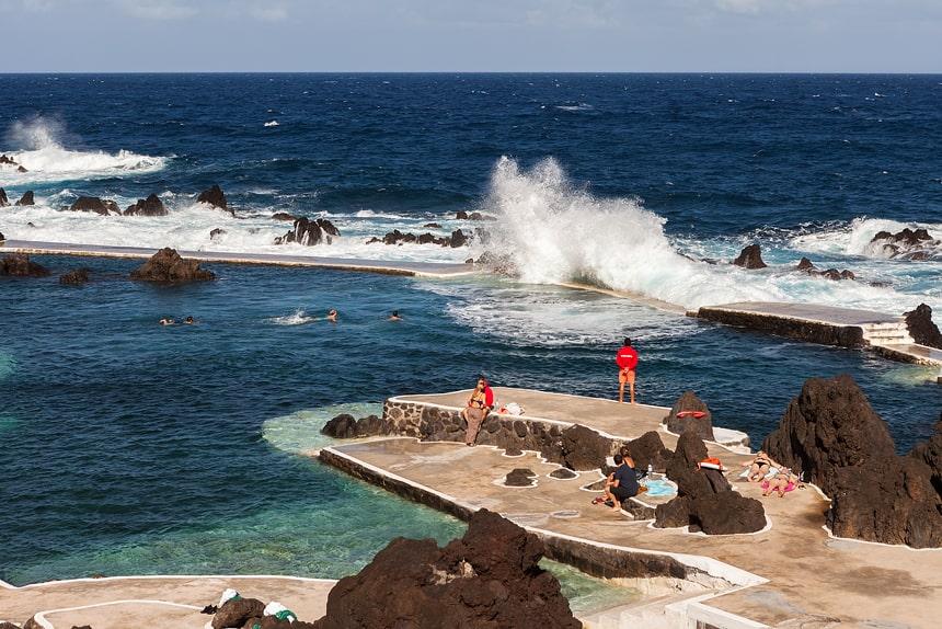 Mooi zwembad, Porto Moniz, Madeira, Portugal