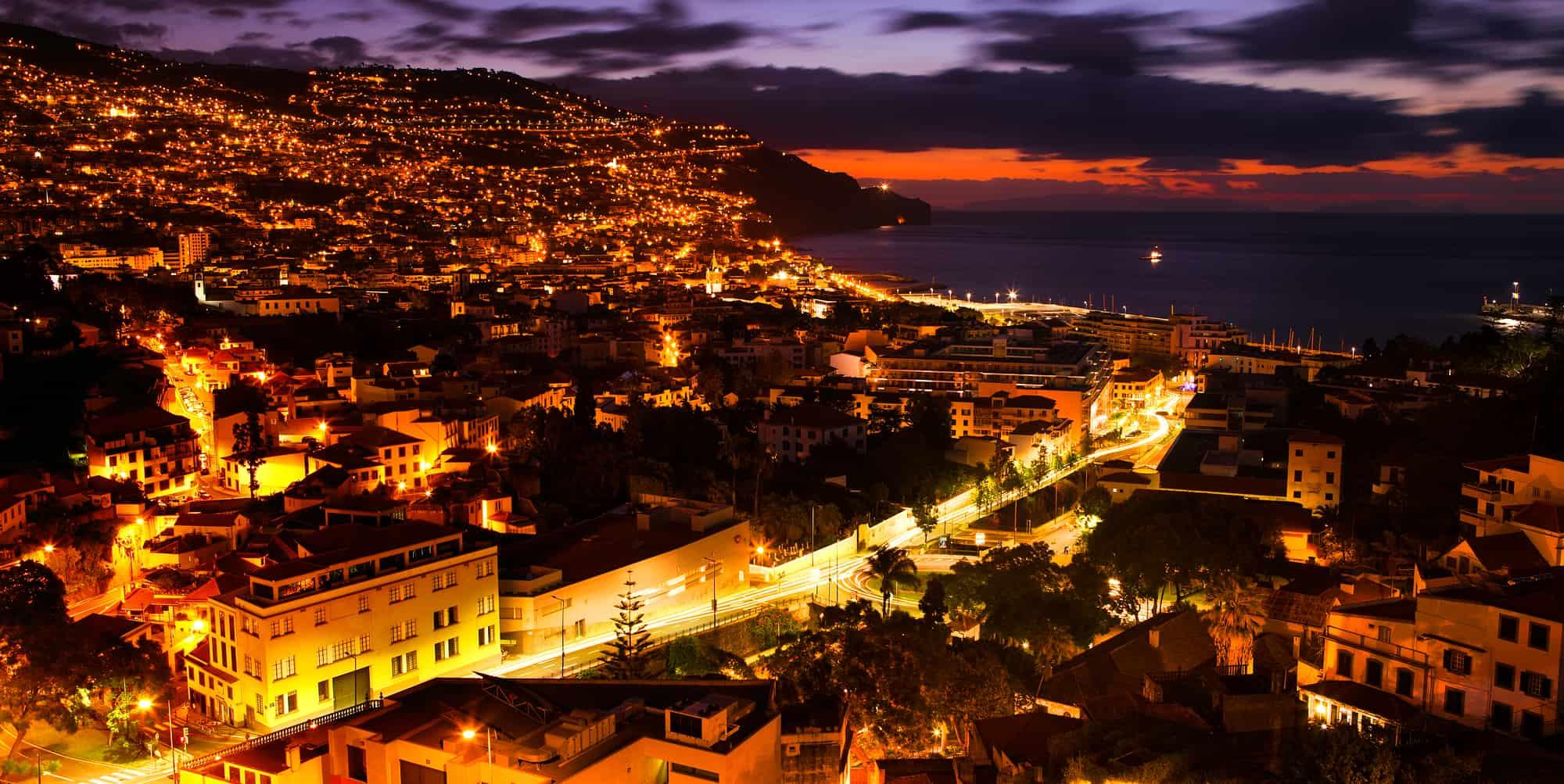 Funchal bij Zonsopgang, Madeira, Portugal