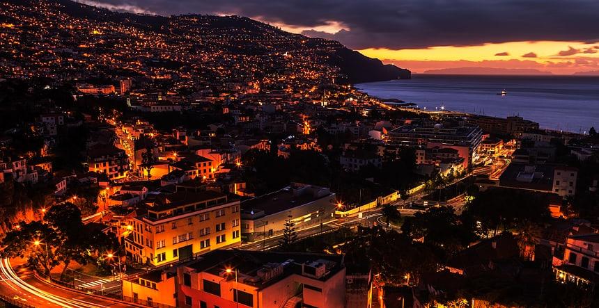 Zonsopgang, Funchal, Madeira, Portugal