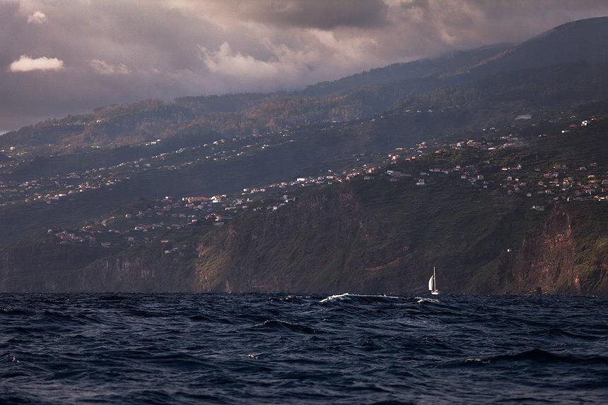 Madeira vanaf de Atlantische Oceaan, Portugal