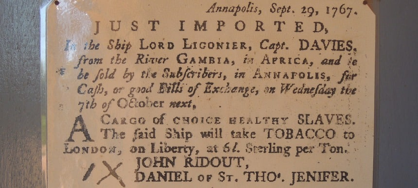 In 1767 kocht je voor een prikkie een gezonde slaaf. Heel gewoon...