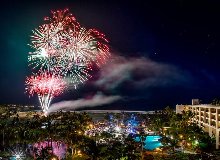 De Amerikaanse staat Hawaï mag als een van de laatste gebieden op aarde het nieuwe jaar verwelkomen en staat daarom in de Top 10 Oud & Nieuw
