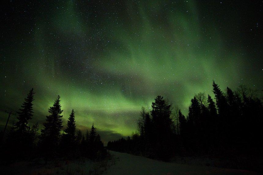 Noorderlicht in Fins Lapland