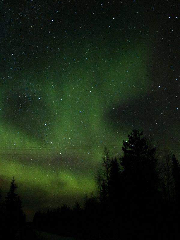 Noorderlicht laat z´n gezicht zien in Lapland.