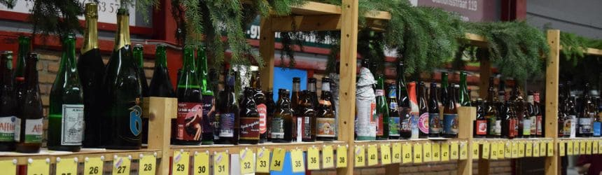 Een kleine selectie van de bieren die op het festival werden geschonken.