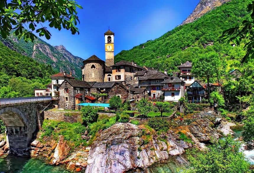 Lavertezzo is een van de meest fotogenieke plaatsen van Zuid-Zwitserland.