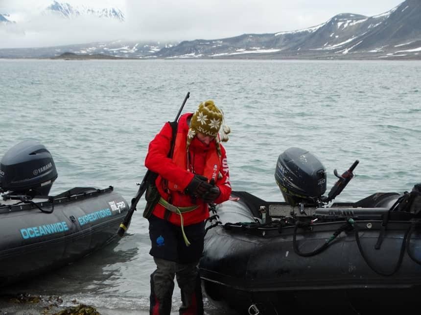 Expeditieleidster Michelle van Dijk