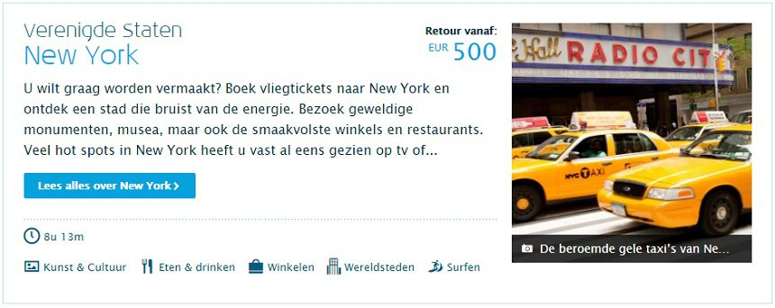 New York met KLM