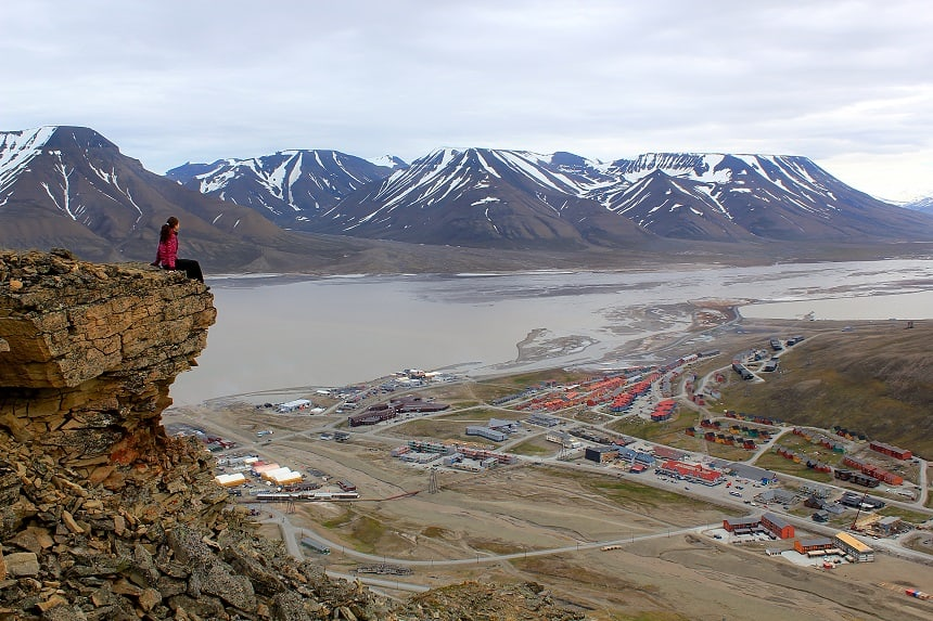 Prachtig uitzicht over Longyearbyen (photo by Marcela Cardenas)