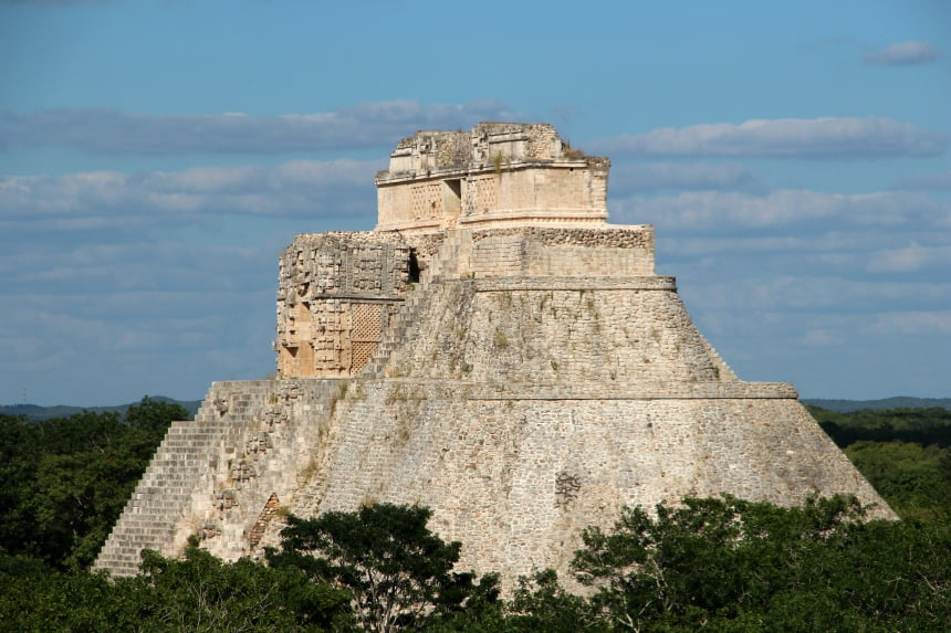 De Mayastad Uxmal in Mexico is prachtig gerestaureerd