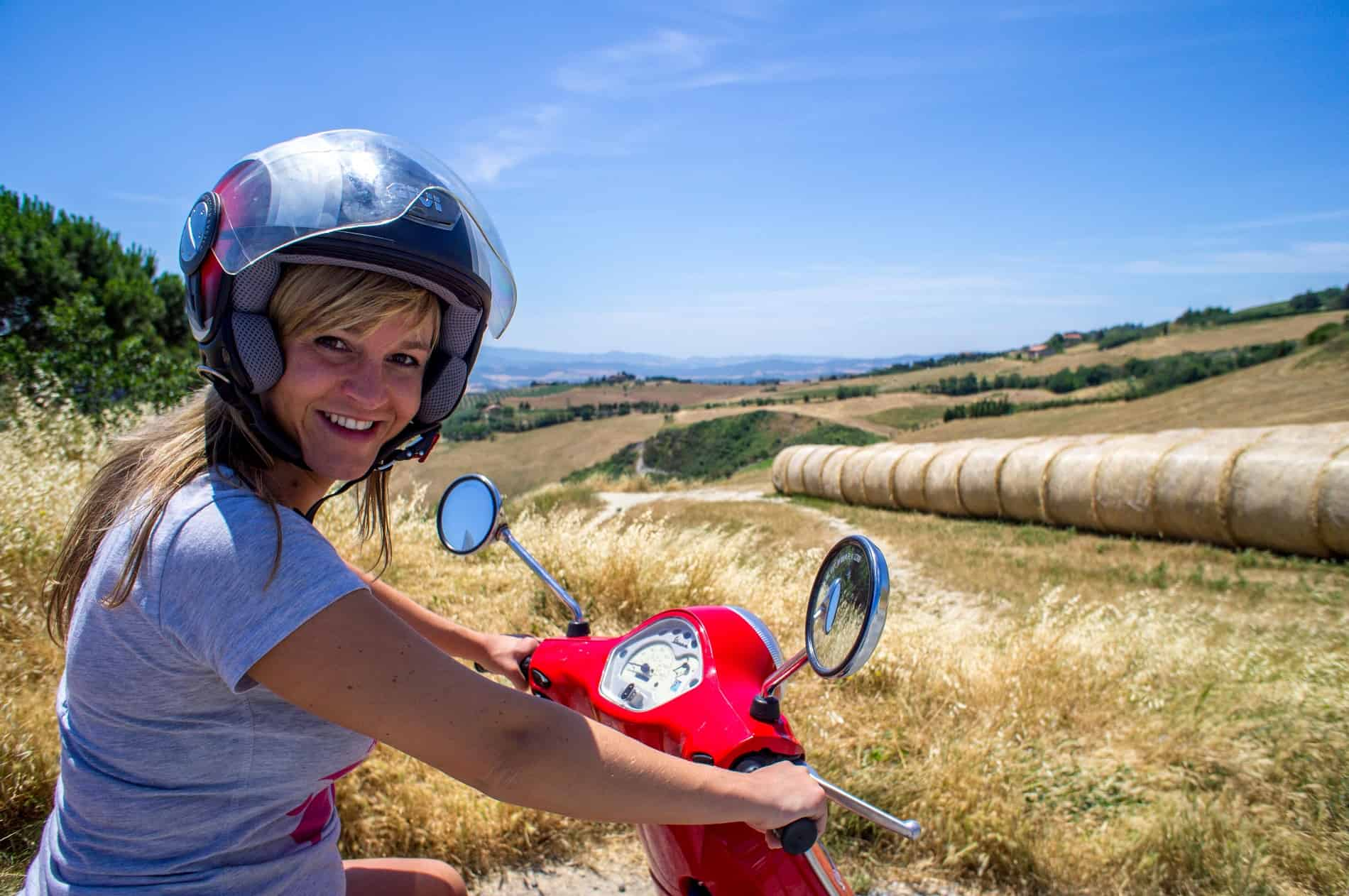 Vespa rijden Italië