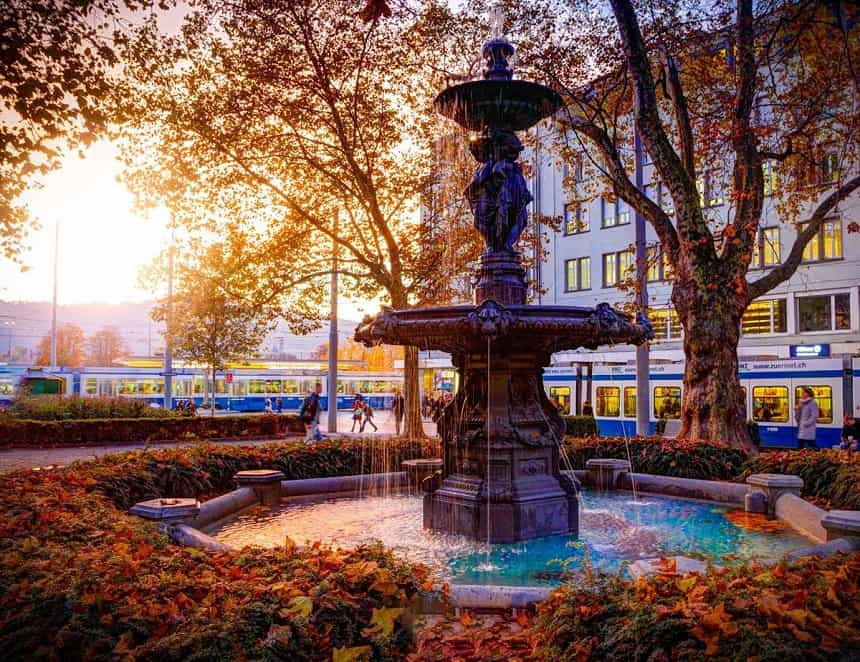 In Zürich zijn meer dan 1200 fonteinen te vinden.