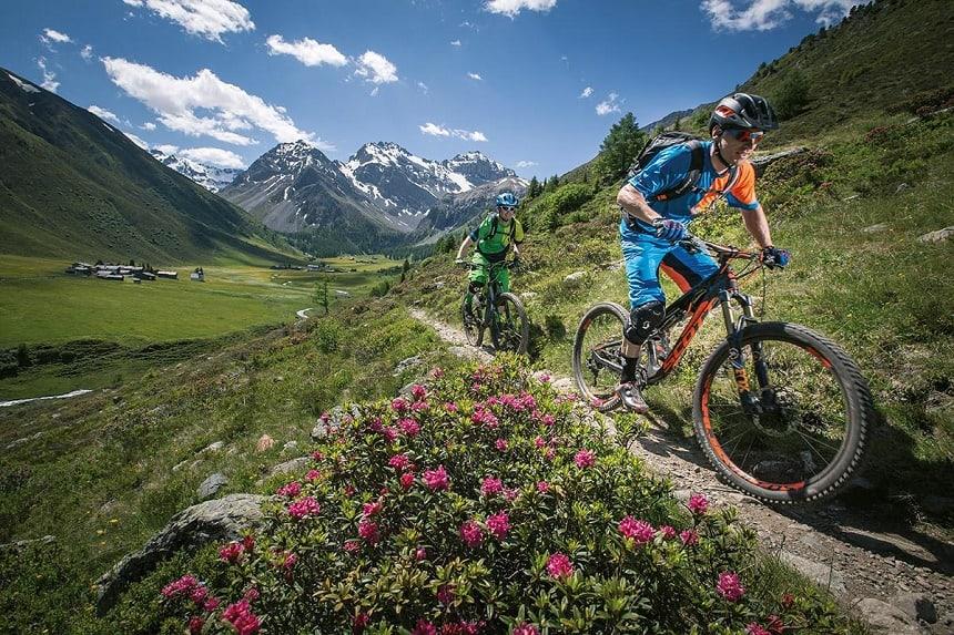 De Alps Epic Trail in Davos.
