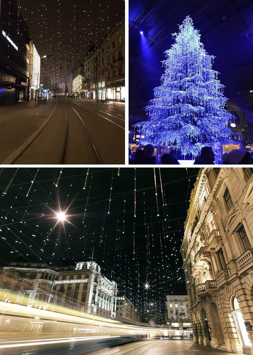 Kerstsfeer in de stad.