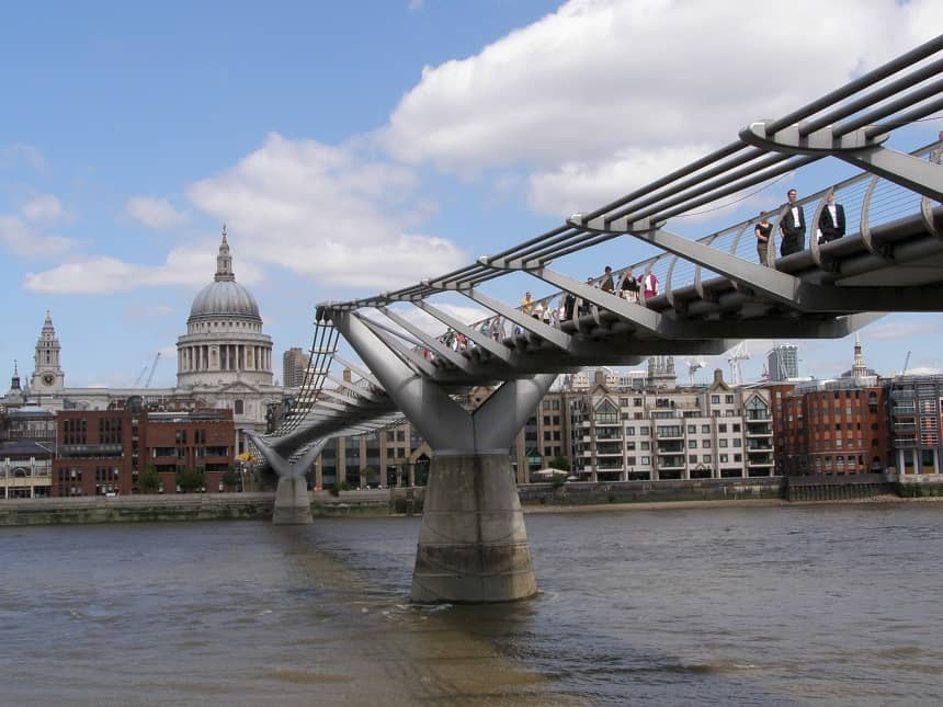 Millennium Bridge in Londen