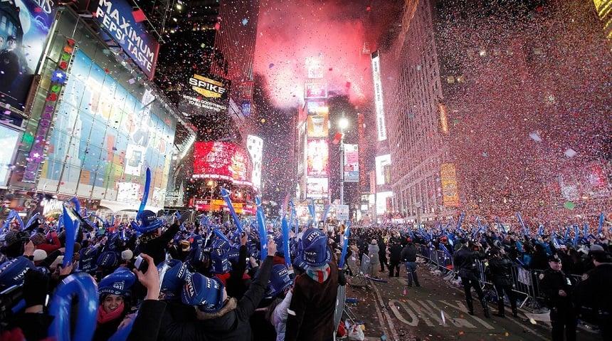 Voor velen 'the place to be' tijdens de jaarwisseling: New York City.