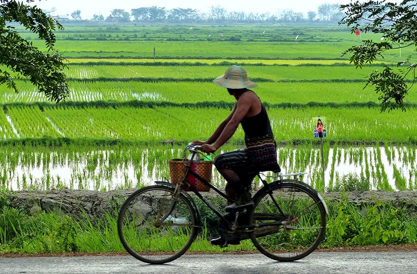 Fietsen in Myanmar