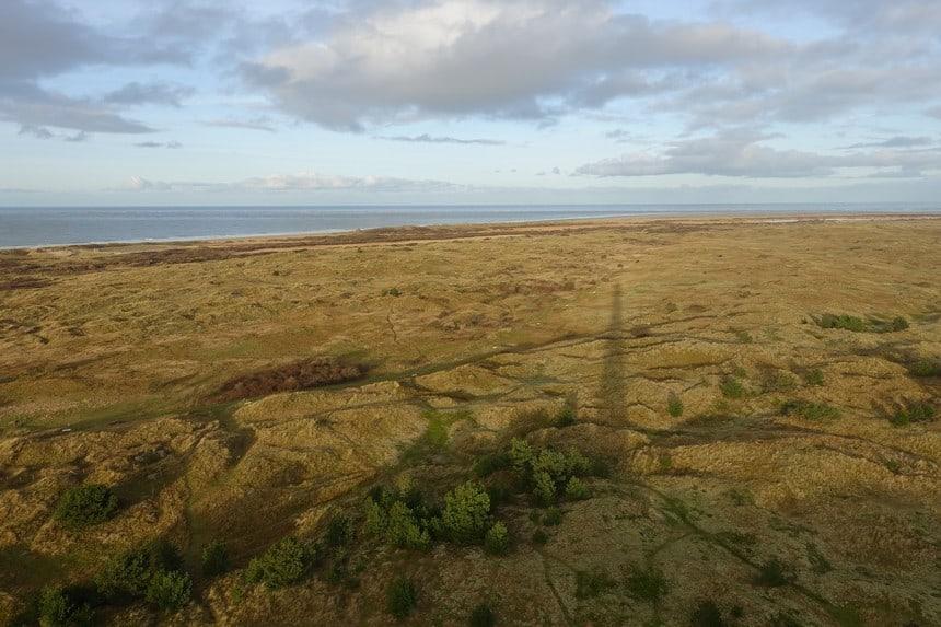Uitzicht vanaf de vuurtoren van Ameland