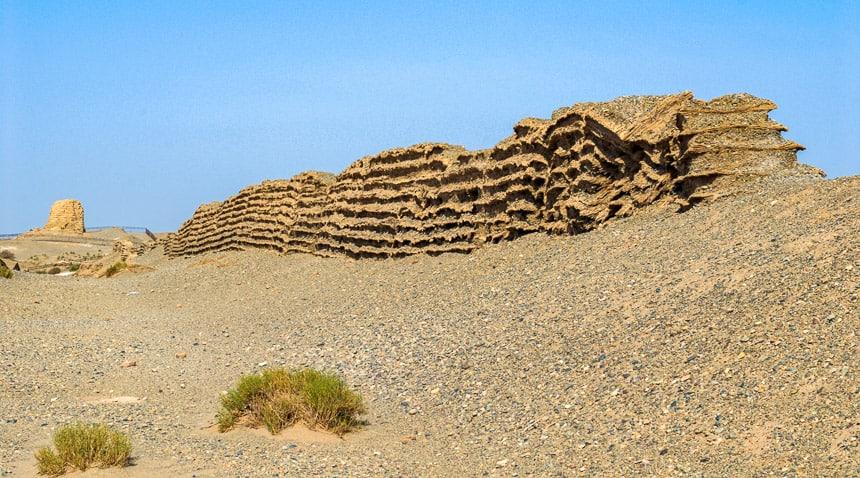 Dunhuang - de Grote Muur bij de Yumenguan pas