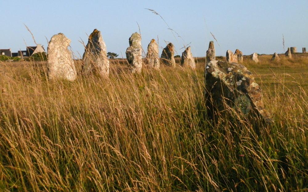 De overgebleven menhirs bij het megalithische erfgoed van Lagatjar