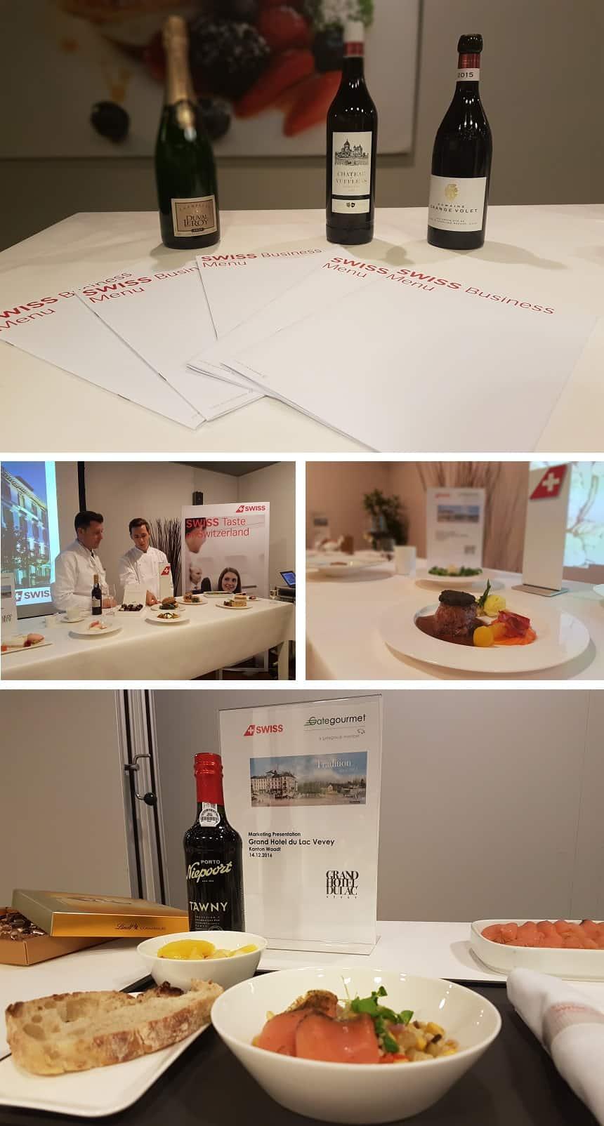 Presentatie bij Gate Gourmet van de nieuwe gerechten van SWISS.
