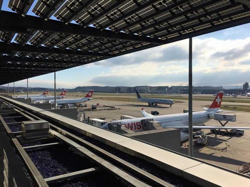 SWISS vliegt 4 keer per dag van Schiphol naar Zürich