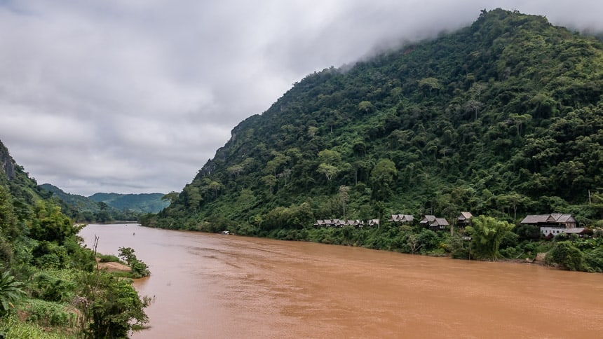 De Nam Ou bij Nong Khiaw