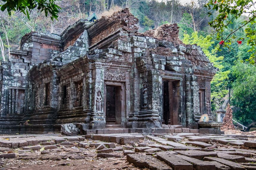 Het heiligdom van Wat Phu in Champassak
