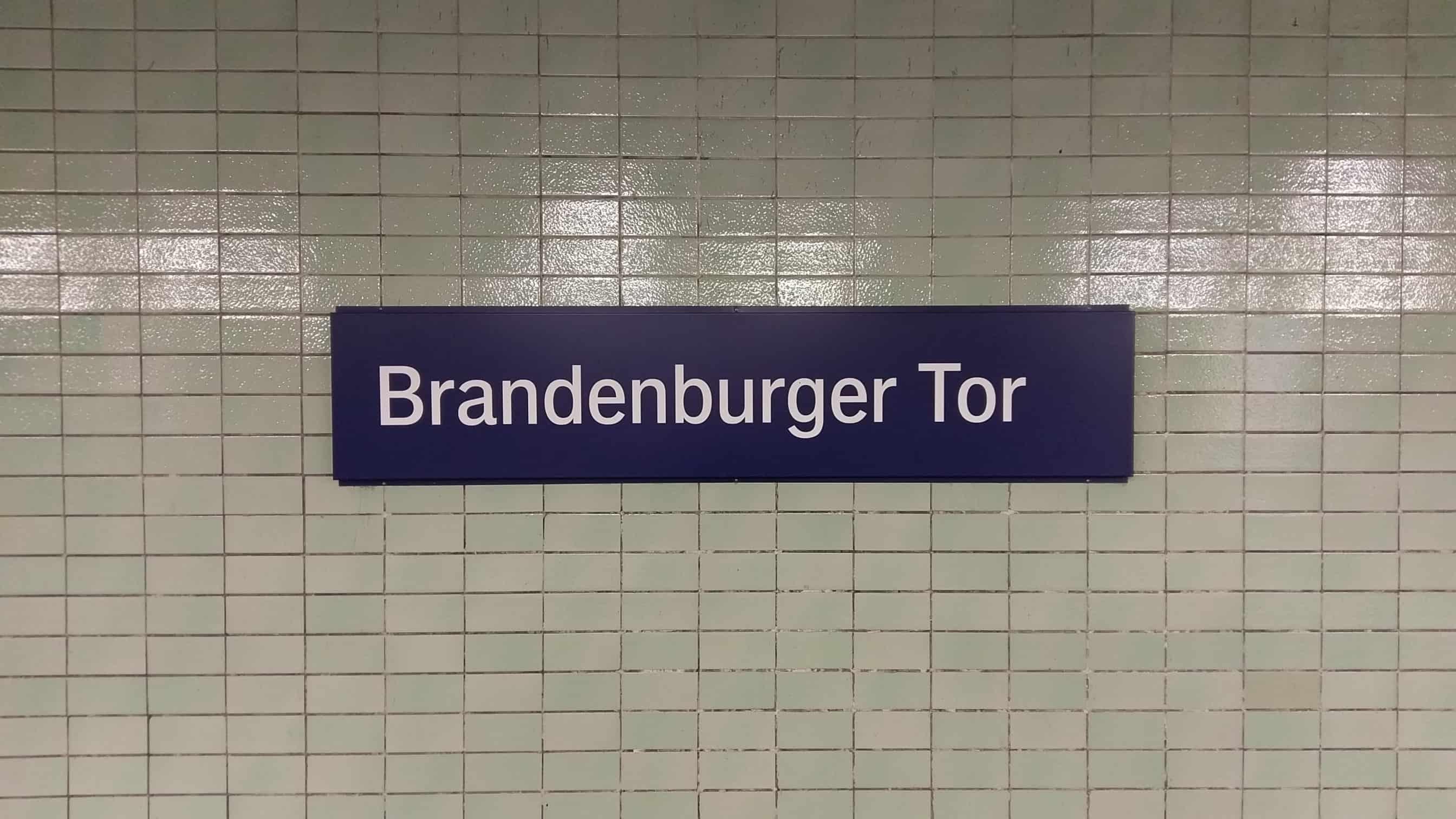 metrohalte Brandenburger Tor