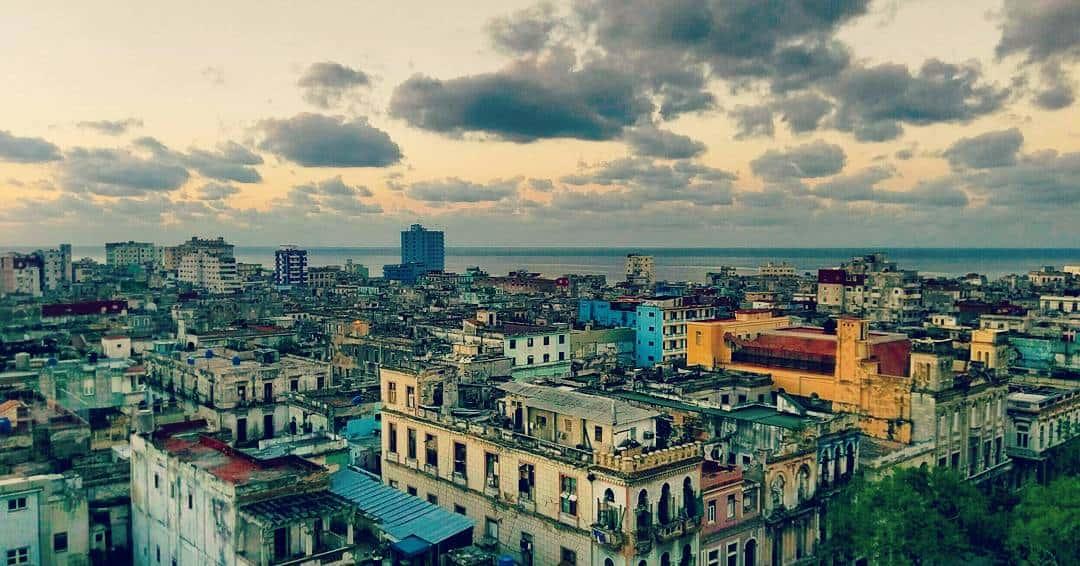 Uitzicht over Havana en de Golf van Mexico