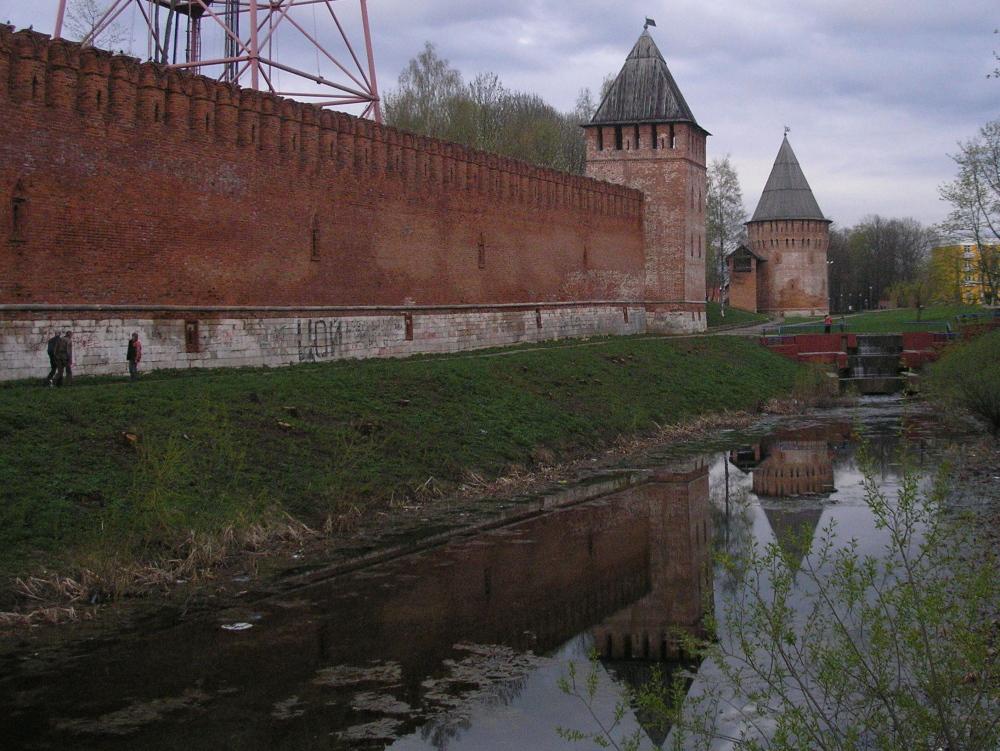 Kremlin, ommuurd klooster, in Vladimir