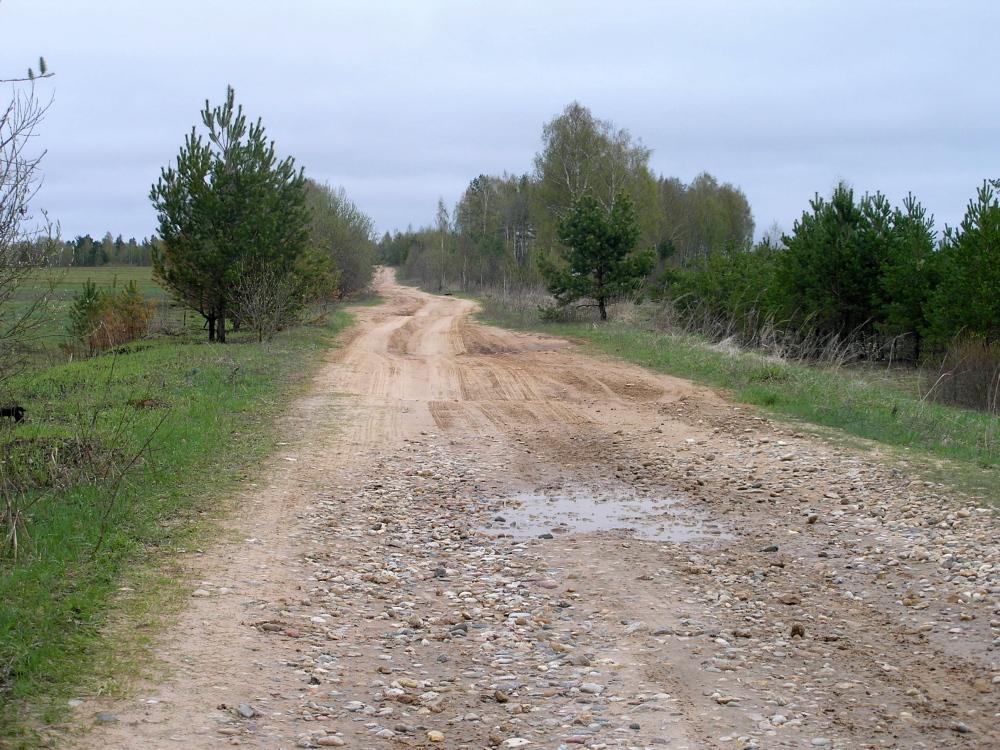 Onverharde wegen in Rusland