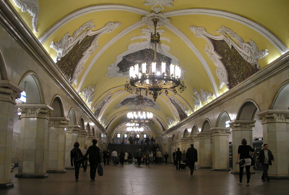 Prachtige metrostations in Moskou