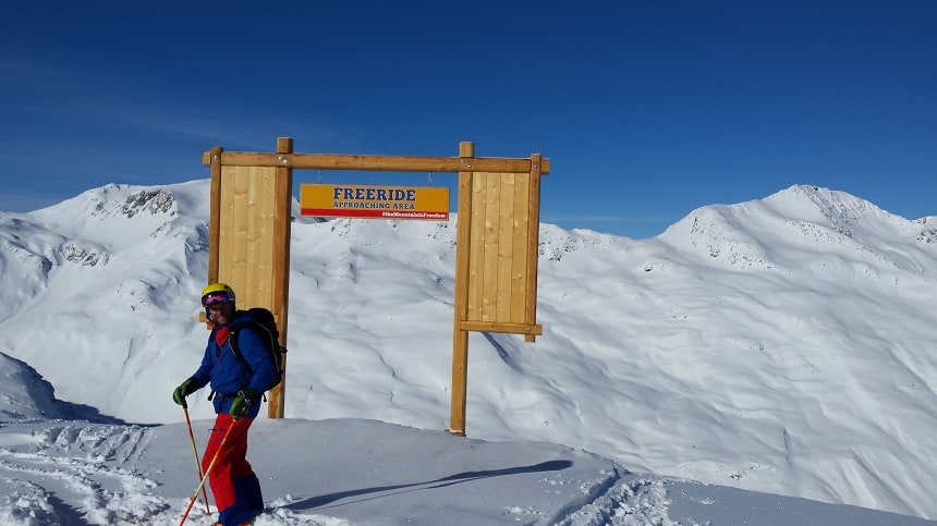 Freeride Approaching Area's Livigno