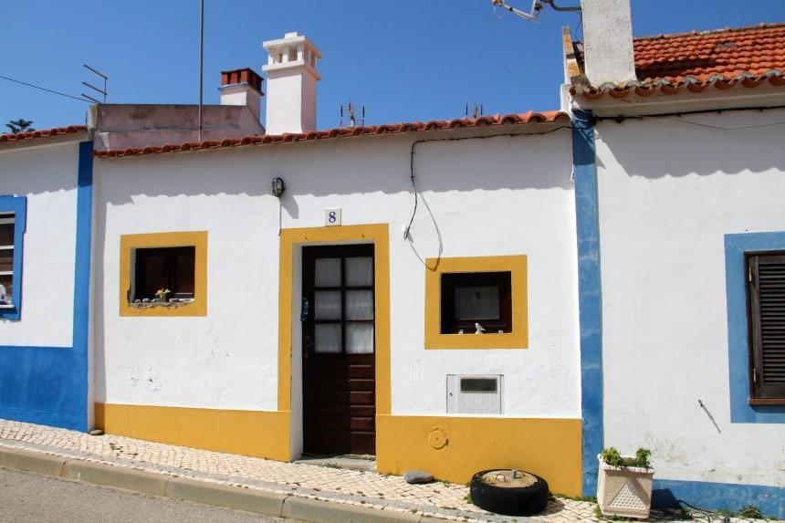 De kleurrijke huizen in Alentejo