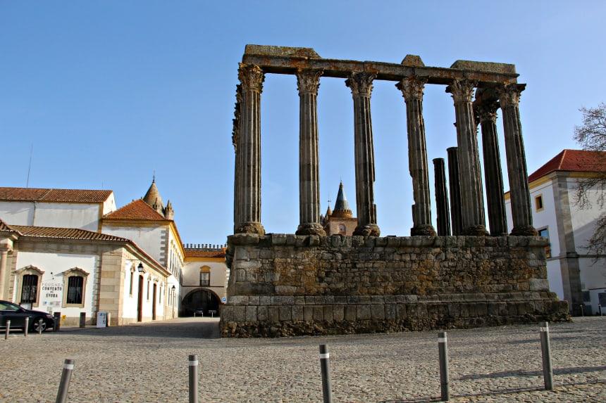 Évora is de bekendste stad van de Portugese regio Alentejo