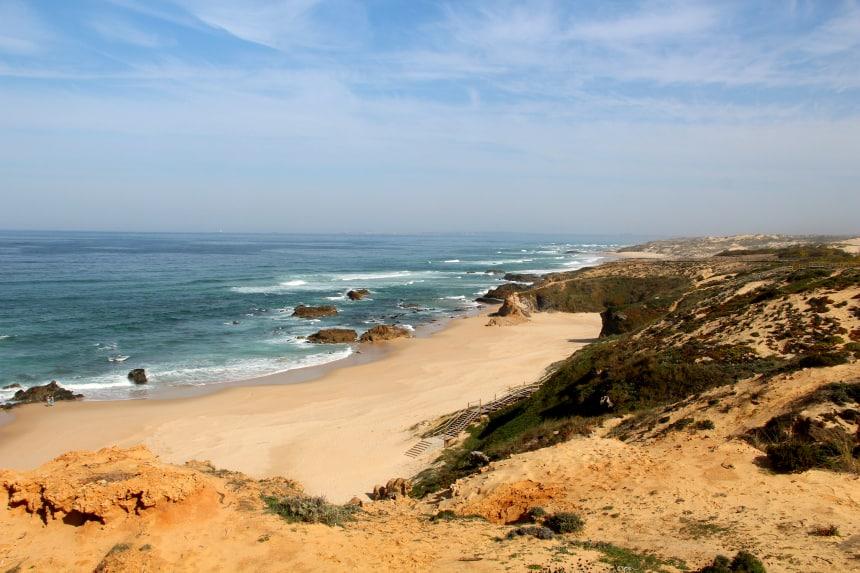 Het strand van Alentejo is beschermd. Zo blijft de mooie, onbebouwde kustlijn behouden