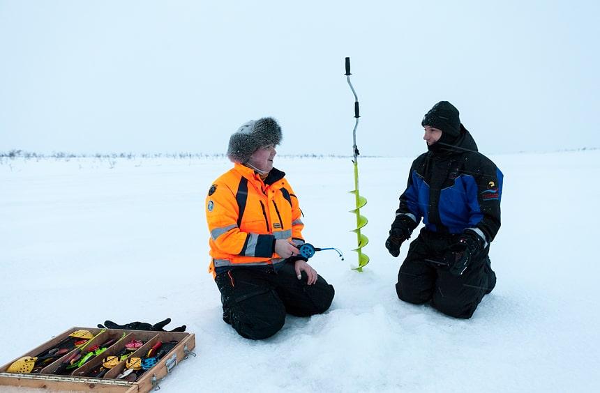 Ijsvissen, Nuorgam Toendra, Finland, Sámi cultuur