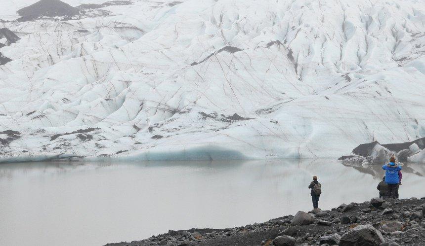 Gletsjers hoog op de ijsvlaktes van de vulkaan Katla.