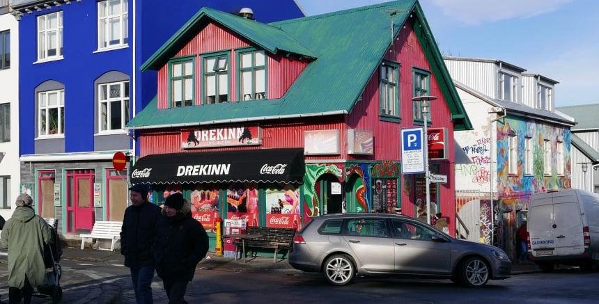 Zwalken door Reykjavik tijdens de Food Walk Tour.