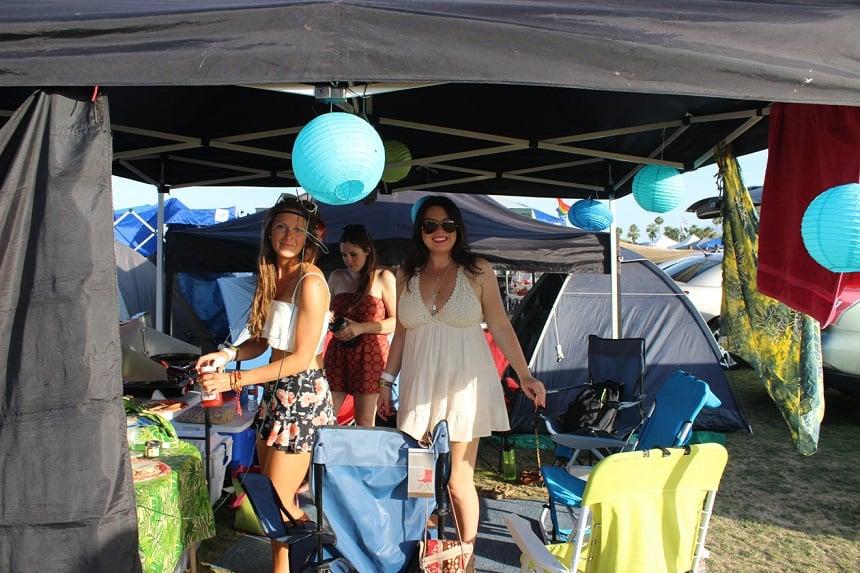 Kamperen op een festival