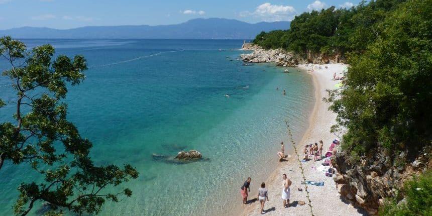 Strand van Kostrena, Kroatië
