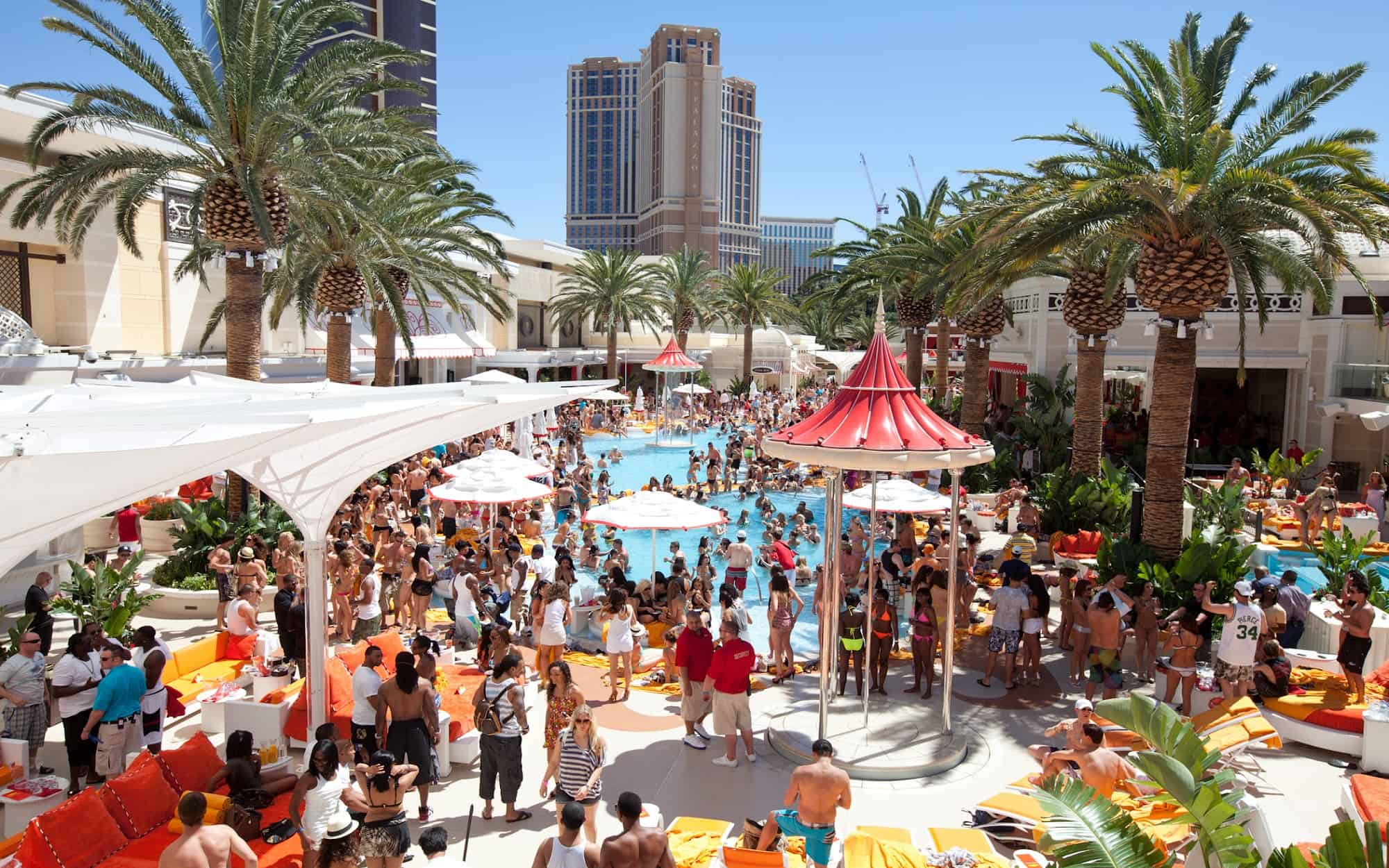 Poolparty's en ultiem relaxen in Las Vegas