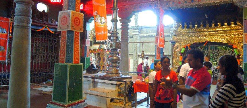 Hindoe-tempel in Trincomalee.