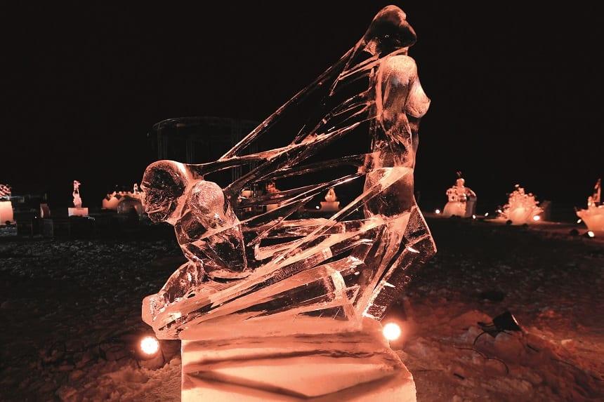 ijssculptuur valloire
