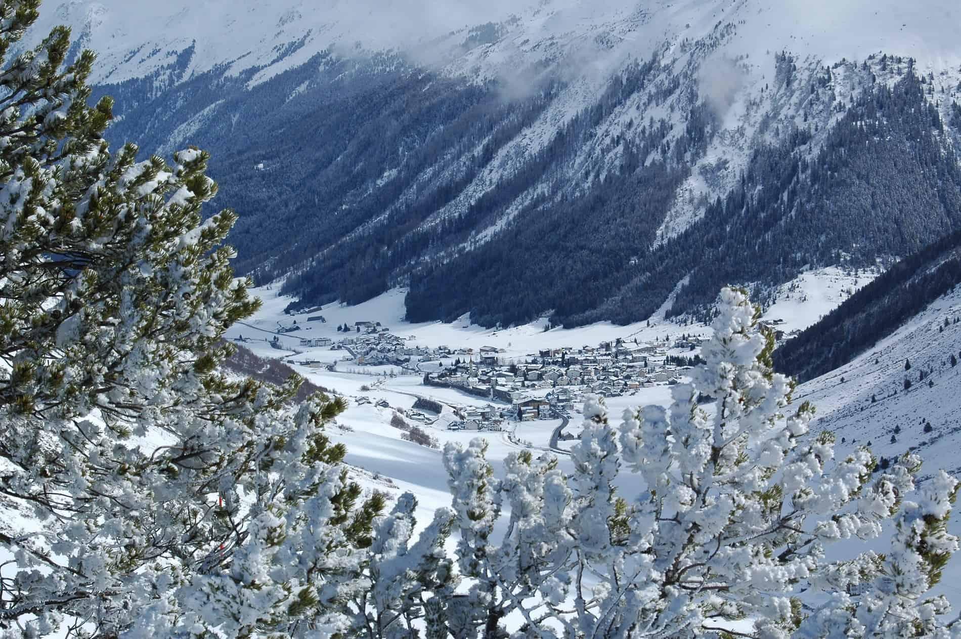 Uitzicht op het dorpje Galtür