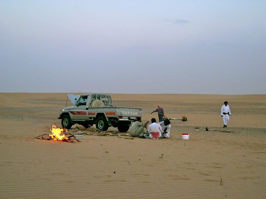 woestijn maaltijd