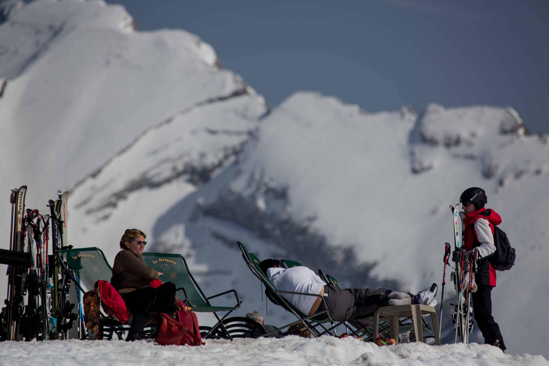 uitzicht op het Mont Blanc massief