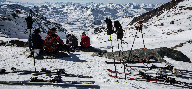 lunchbreak op de gletsjer