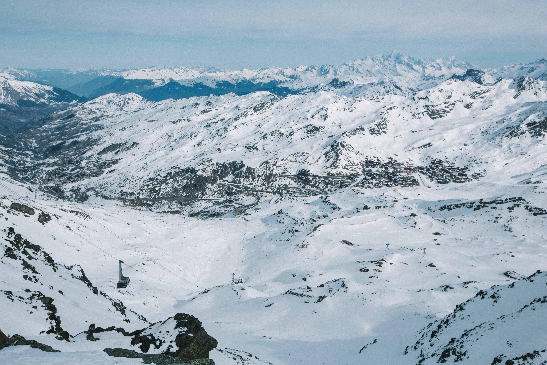 De Bouchet, het hoogste punt van Val Thorens, op 3230 meter